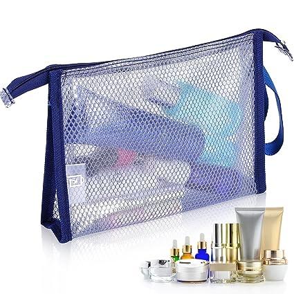 HOYOFO PVC impermeable transparente bolsa transparente bolsa de cremallera maquillaje organizador bolsas de aseo de viaje