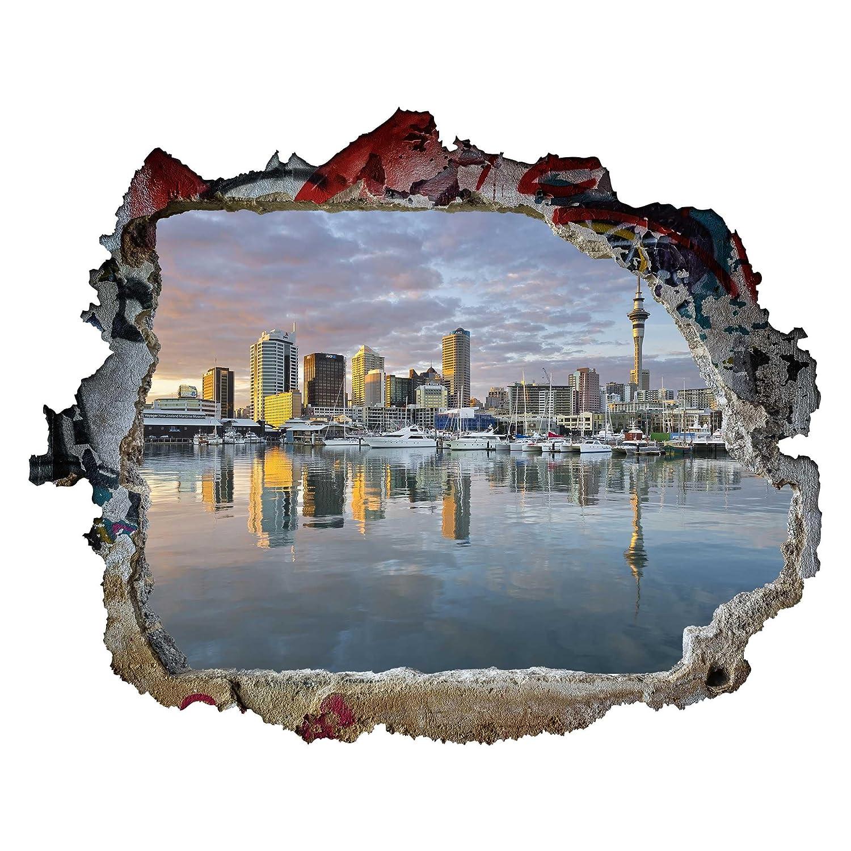 Bilderwelten Tatuaje de Pared 3D - Auckland Skyline Sunset ...