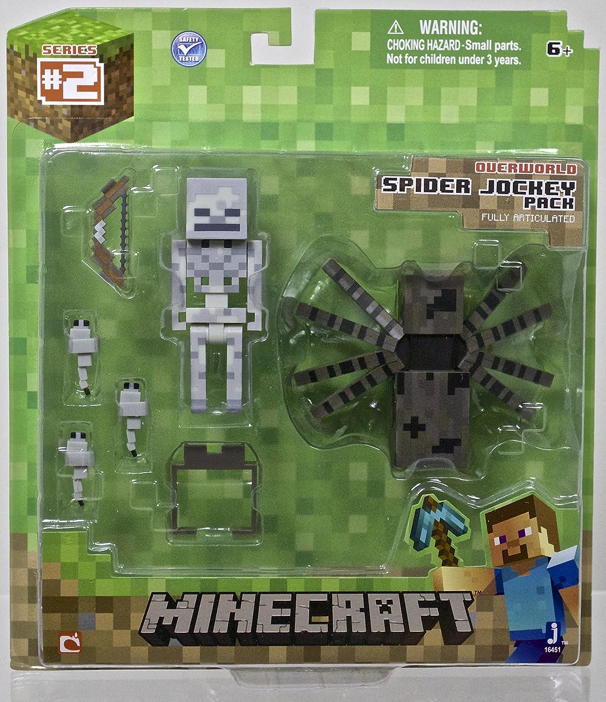 Minecraft - 2435 - Figurita Animación - Box Esqueleto Y Araña: Amazon.es: Juguetes y juegos