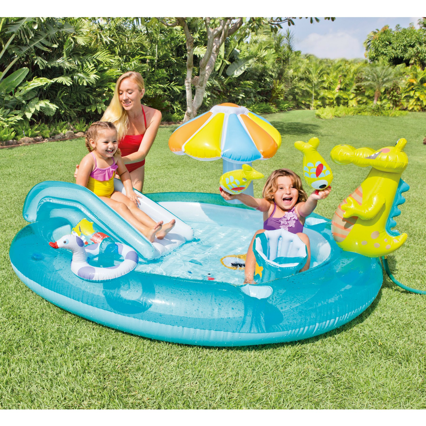 Intex Gator Inflatable Play Center, 80'' X 68'' X 35'', for Ages 2+ by Intex (Image #2)