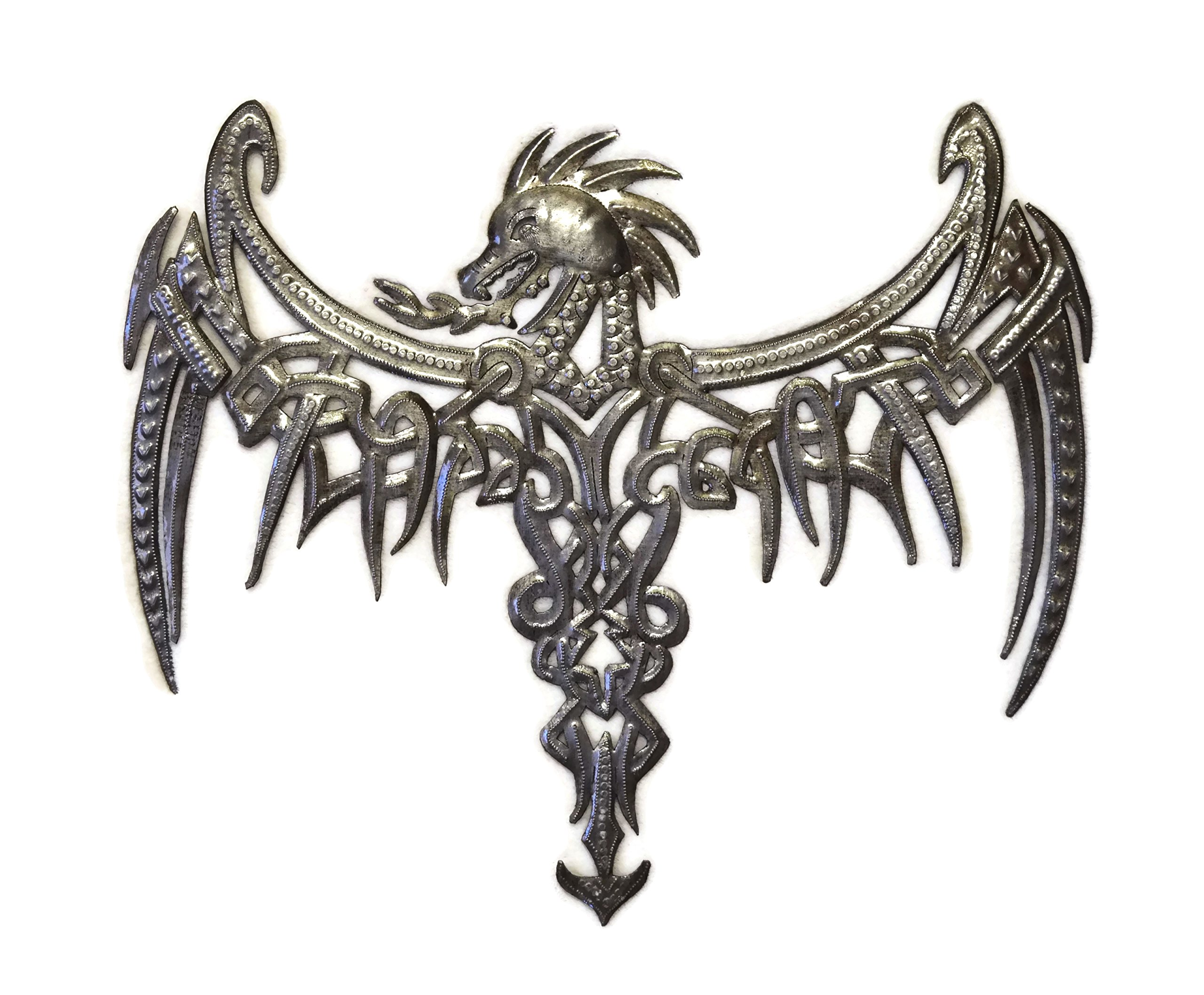 it's cactus - metal art haiti Dragon, Celtic Inspired, Gothic Wall Plaque Artwork from Haiti,13.75'' x 16.75''