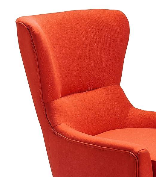 Fabulous Burnt Fpf18 0040 Jla Home Hilton Wingback Orange Faux Pdpeps Interior Chair Design Pdpepsorg