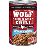 Wolf Brand Chili Without Beans, Packed with Protein, 15 Ounce
