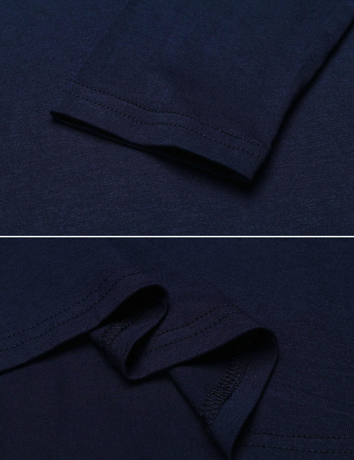 Misakia Women's Summer Cold Shoulder Tunic Top Swing T-Shirt Loose Dress (Navy Blue XL) by Misakia (Image #6)