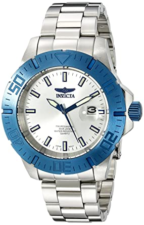 Invicta Mens INVICTA-14051 Pro Diver Analog Display Japanese Quartz Silver Watch