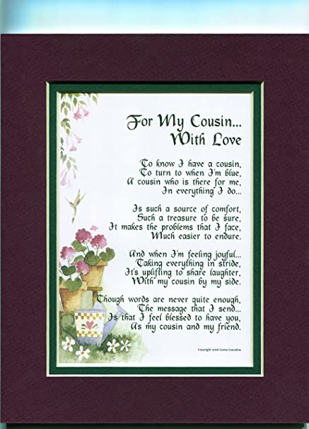 73 A Gift Birthday Present Poem For Cousin