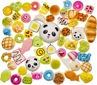 Dropplex LTD Juguetes Squishy de Hinchado Lento Paquete Surtido de 20 Squishies: Kawaii de Comida Gigante Bollo Pan Donuts Panda Suaves y Blandos Jumbo Medio y Mini: Amazon.es: Juguetes y juegos