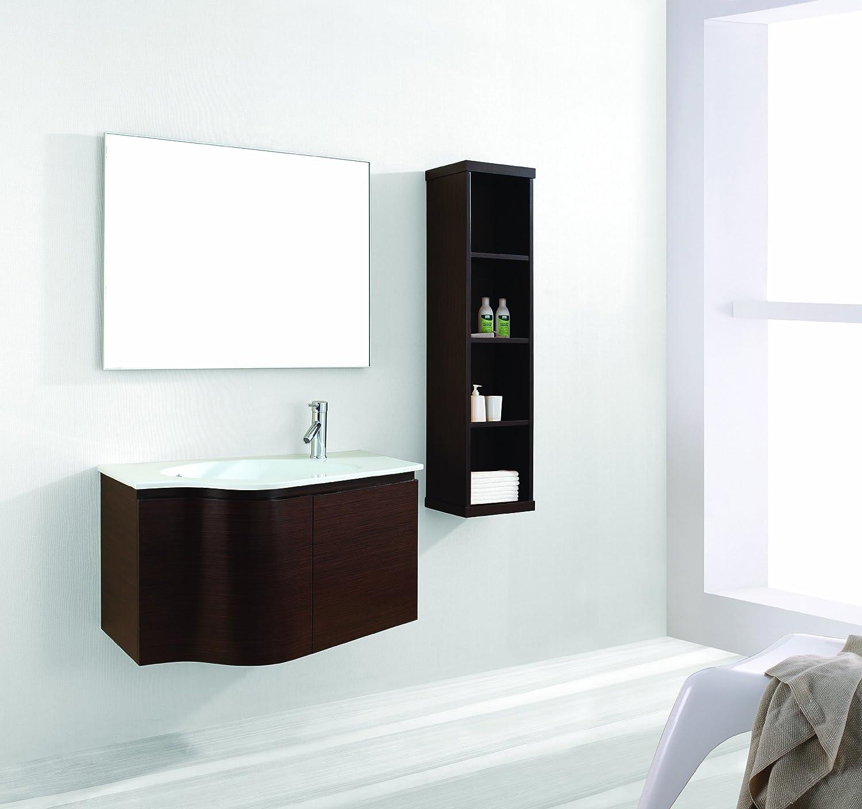 Virtu USA ES-1236-C-WA Roselle 36-Inch Wall-Mounted Single Sink ...