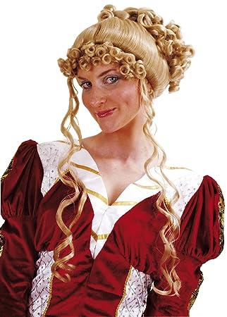 César - Peluca para disfraz de marquesa
