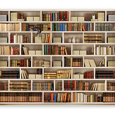 Wallpapers Intelligent Photo Wallpaper 3d Murals Wallpaper For Walls 3 D Bookcase Mural Wooden Shelves Books Books Study Background Wall Painting Decor Painting Supplies & Wall Treatments