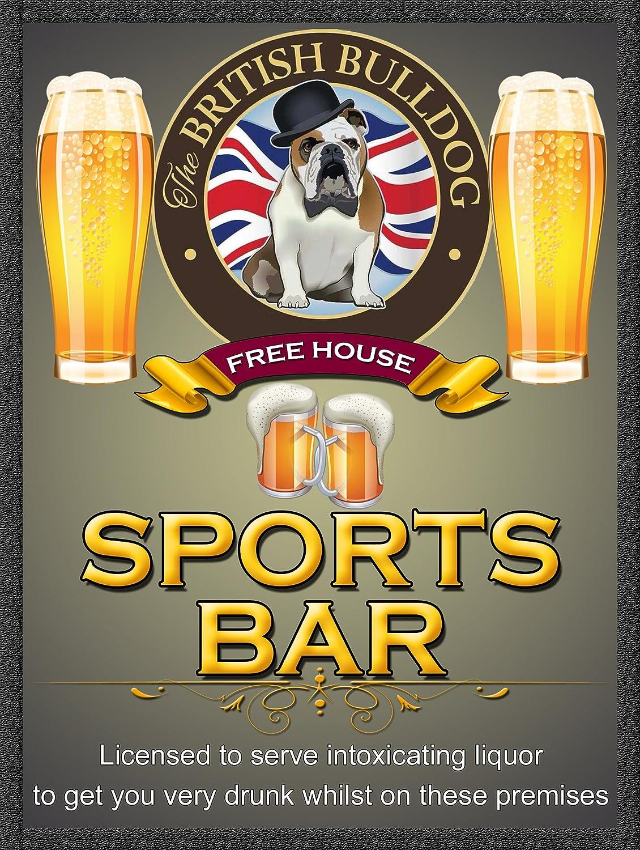 The British Bulldog frei House Sports Bar Retro Metall Zinn Wandplakette//Schild Neuheit Geschenk Home Bar
