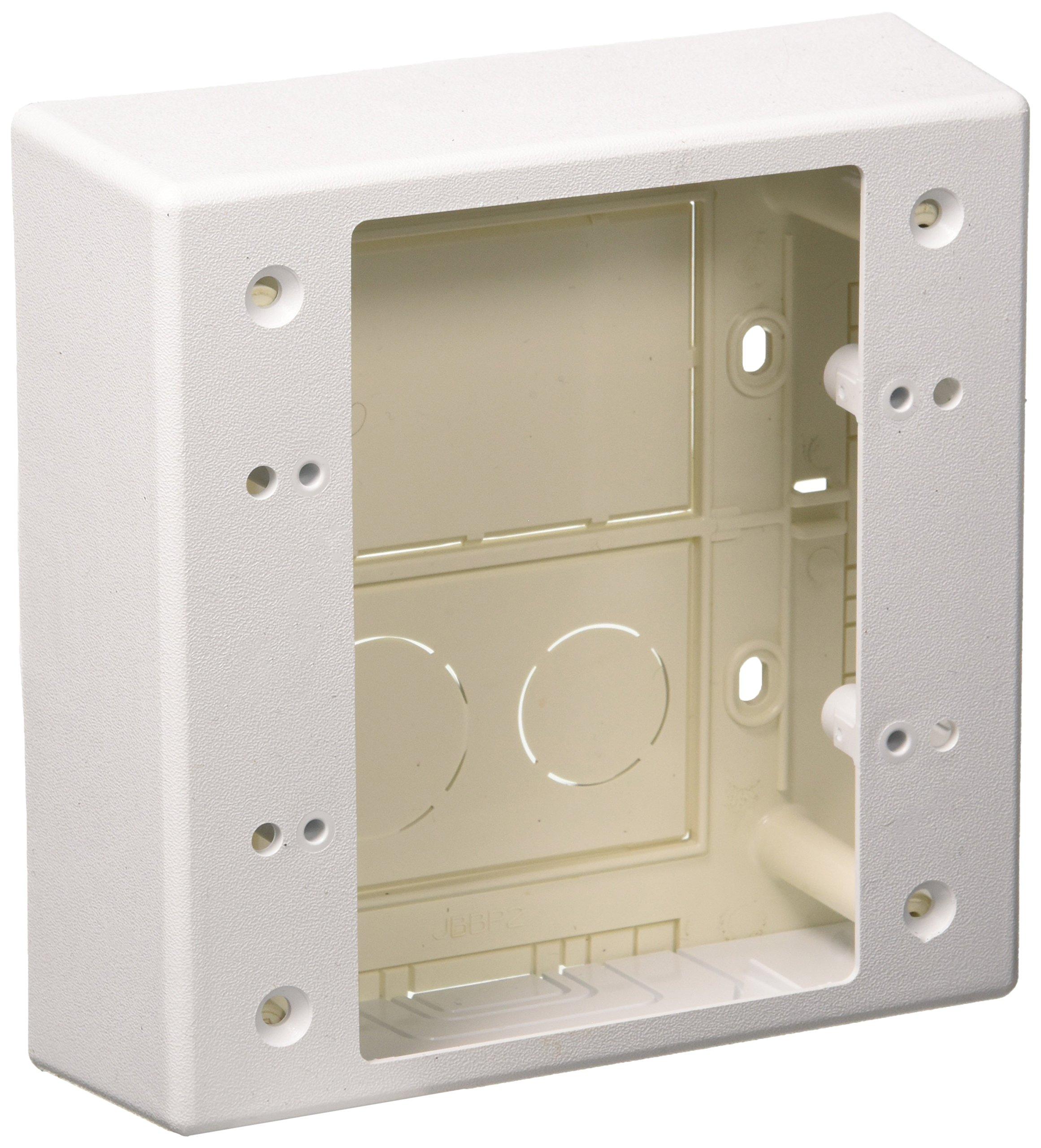 Panduit JBP2WH 2-Gang Outlet Box, White, 2-Piece