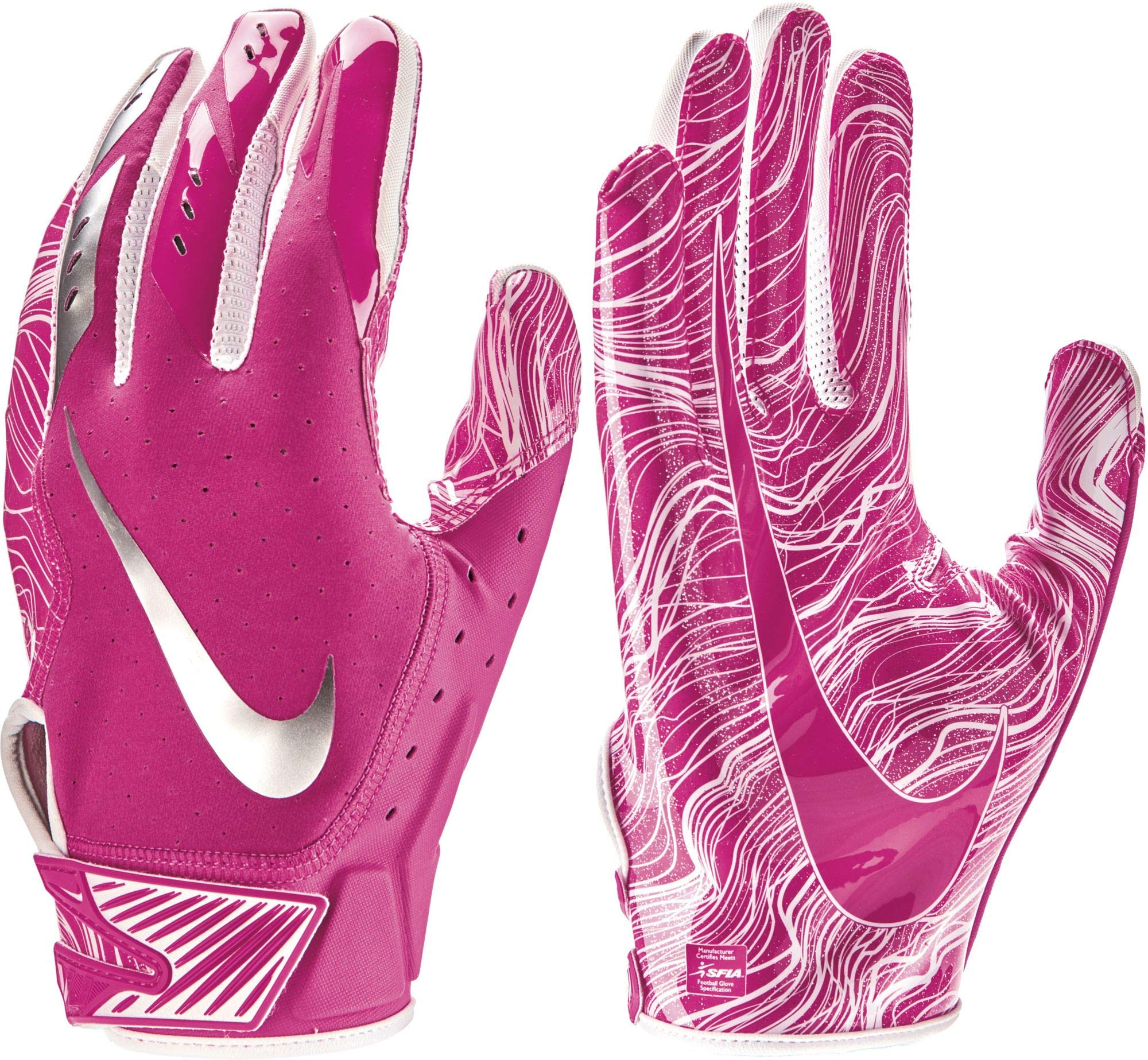 NIKE Adult Vapor Jet 5.0 Breast Cancer Awareness Receiver Gloves 2018 (Pink, Small)