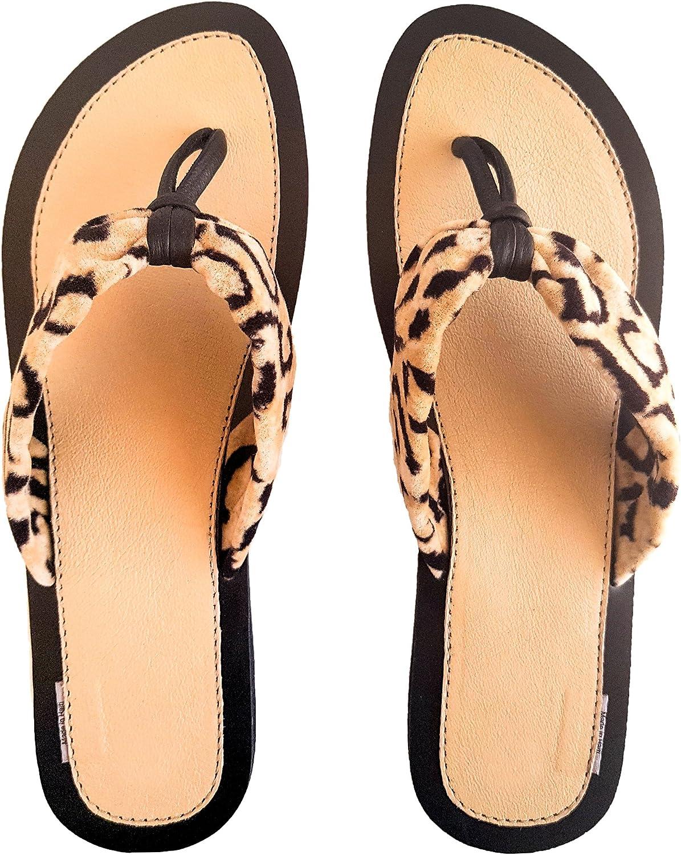 Flip Flop Leopard Print Sandals
