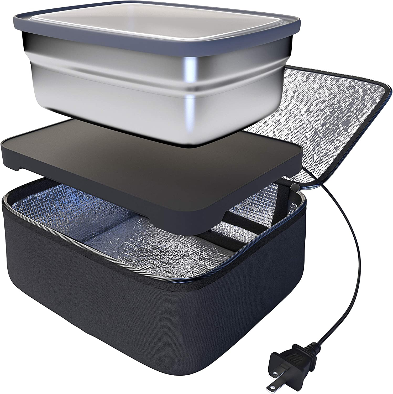 Skywin Road Portable Oven and Lunch Warmer - Personal Food Warmer for reheating meals in Car & Truck without an office microwave
