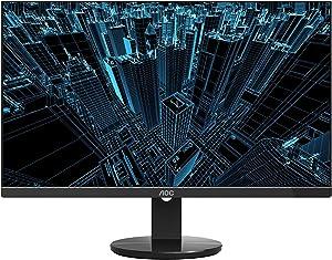 """AOC U2790VQ 27"""" 4K 3840x2160 UHD Frameless Monitor, IPS, 5ms, 1 Billion+ Colors, DisplayPort/HDMI inputs, VESA (Renewed)"""