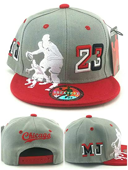 a91f9ef8d27 Amazon.com   Chicago New Greatest 23 Legend Jordan Bulls Gray Red MJ ...
