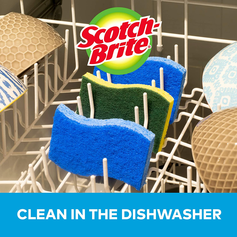 Scotch-Brite Non-Scratch Scrub Sponges, 6 Scrub Sponges, Lasts 50% Longer than the Leading National Value Brand: Health & Personal Care