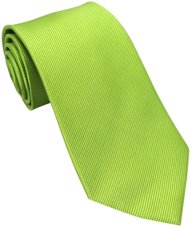 Oliver Bainbridge Corbata de seda verde lima: Amazon.es: Ropa y ...