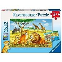 Ravensburger Elephants Lions Company Puzz 2x12pc,Children's Puzzles