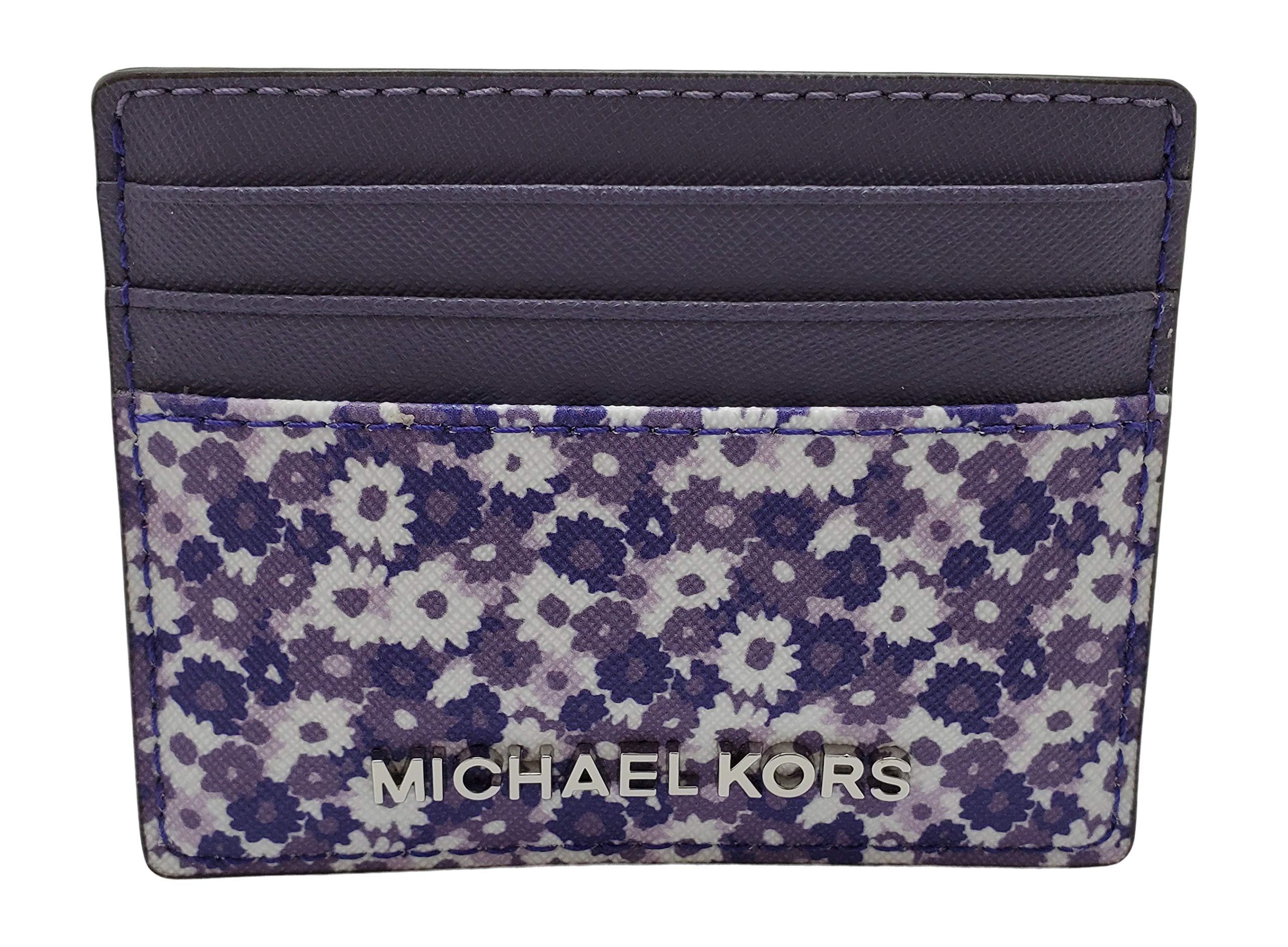 Michael Kors Jet Set Travel Saffiano Leather Credit Card Case Amethyst by Michael Kors
