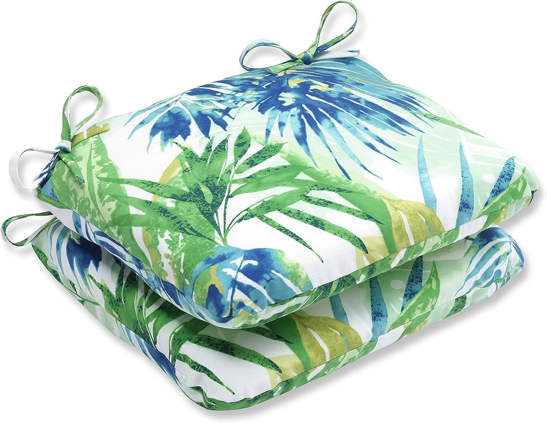 Pillow Perfect Outdoor/Indoor Soleil Round Corner Seat Cushions, 18.5