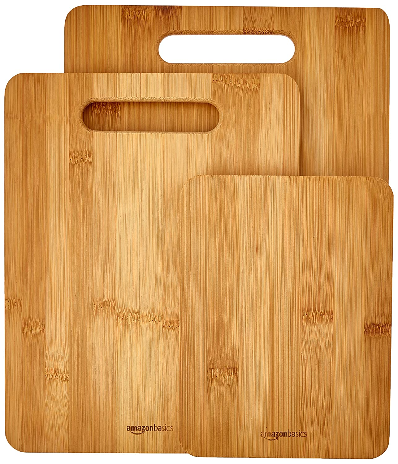 amazoncom 3piece bamboo cutting board set kitchen u0026 dining
