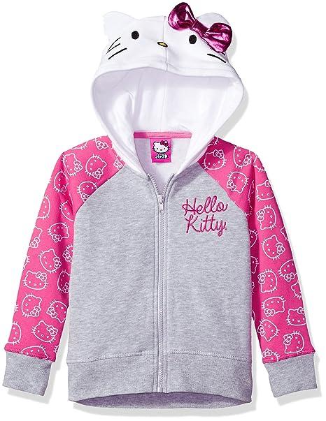 8d05dbf849a Hello Kitty Little Girls  Costume Hoodie, Heather Grey Pink White, 5 ...