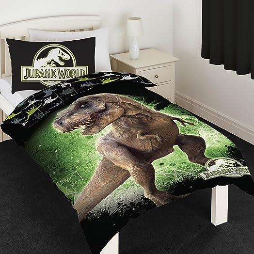 Jurassic World T Rex Single Panel Duvet Cover Bed Set Amazonco - T rex bed