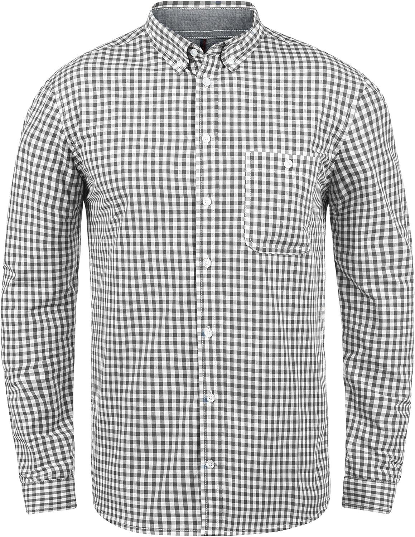 Da Uomo Camicia Di Flanella Verificato 100/% cotone manica lunga Casual Button Down S-2XL