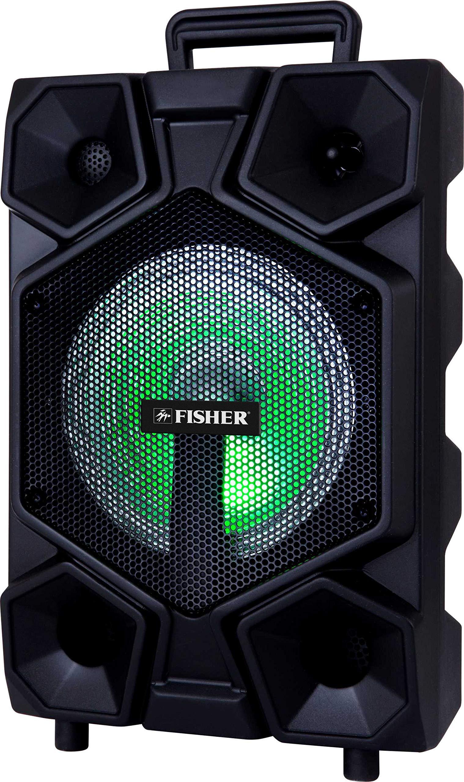 Fisher FBX860 Bluetooth Karaoke Speaker System w/Remote Control and Lights