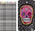 NPW Sugar Skull Deluxe Colored Pencil Set