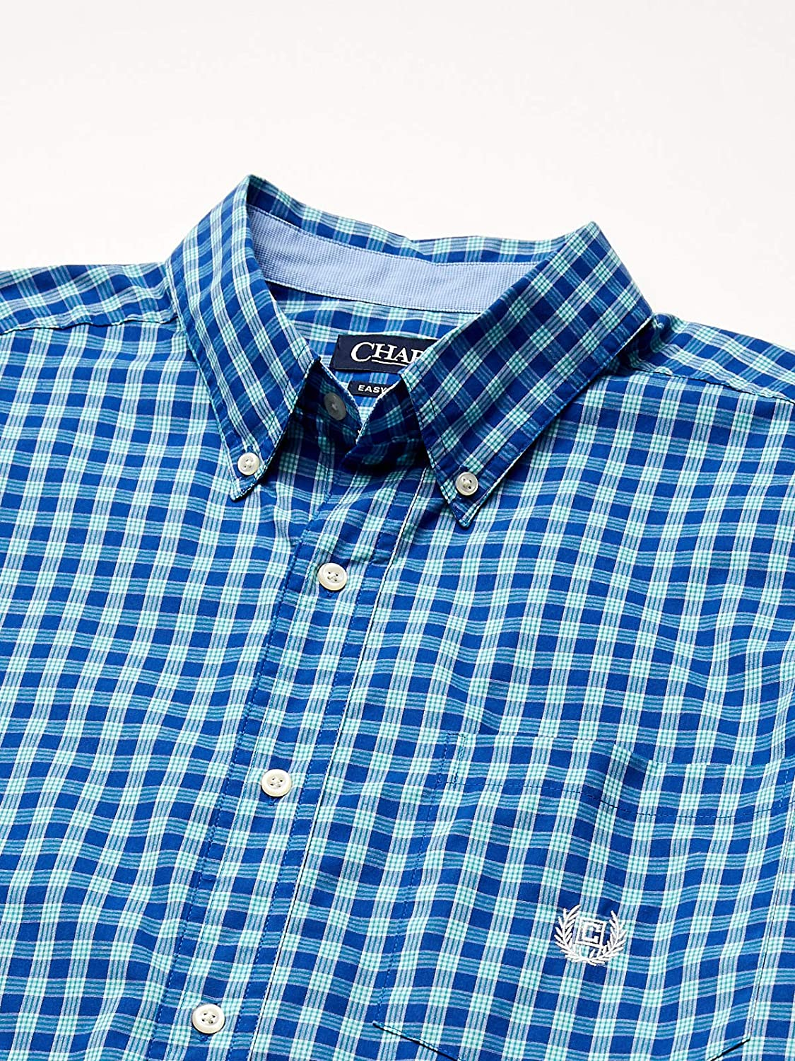 CHAPS Mens Big and Tall Short Sleeve Easy Care Button Down Shirt Button Down Shirt