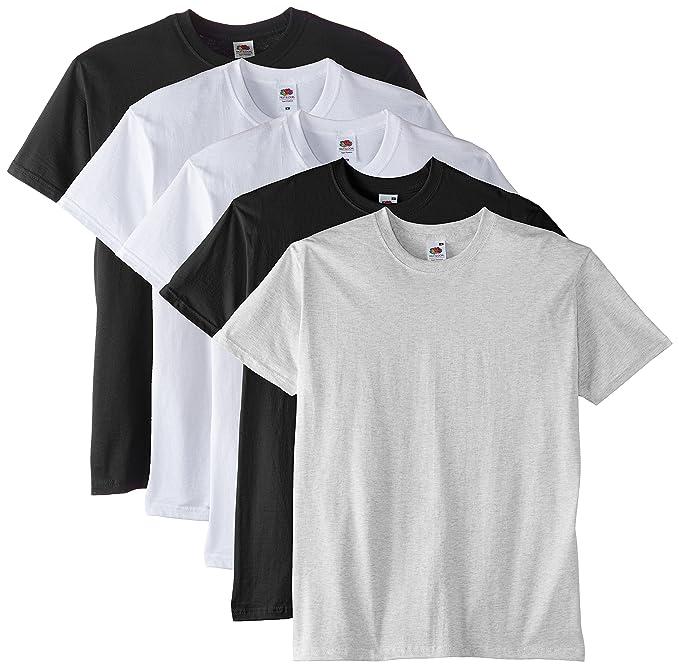 69c15b211f68 Fruit of the Loom Men s Super Premium Short Sleeve T-Shirt Pack of 5 ...