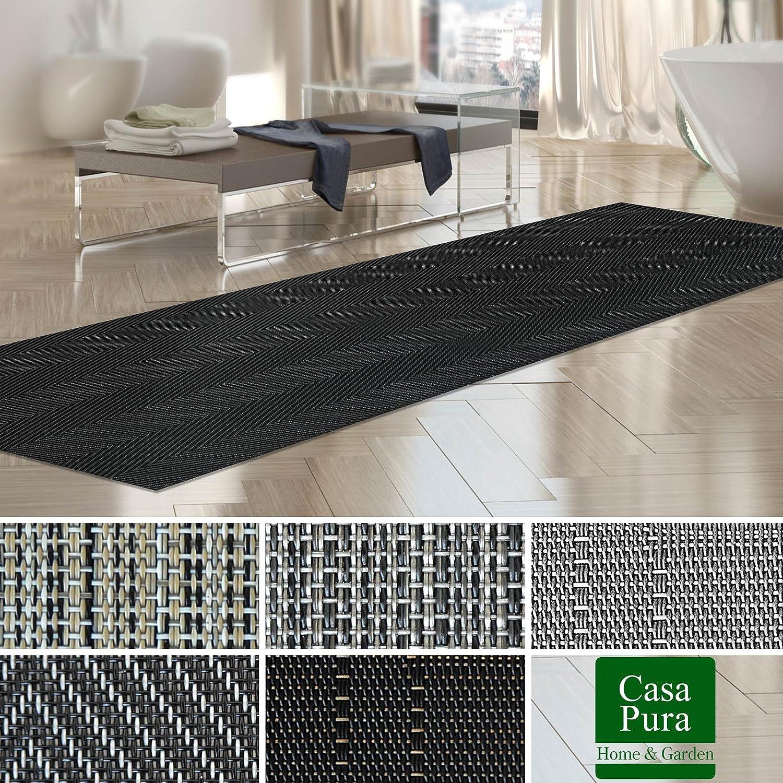 nombreux design//tailles Tapis int/érieur ext/érieur casa pura/® r/ésistant impermeable et antid/érapant 180x600cm Genua antisalissure