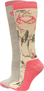 product image for RealTree Ladies Snow Camo Wool Blend Socks, 2 Pair