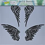 amazon com angel wings stencil template for walls and crafts