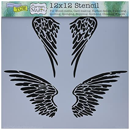 amazon com crafters workshop tcw616 template 12 x 12 angel