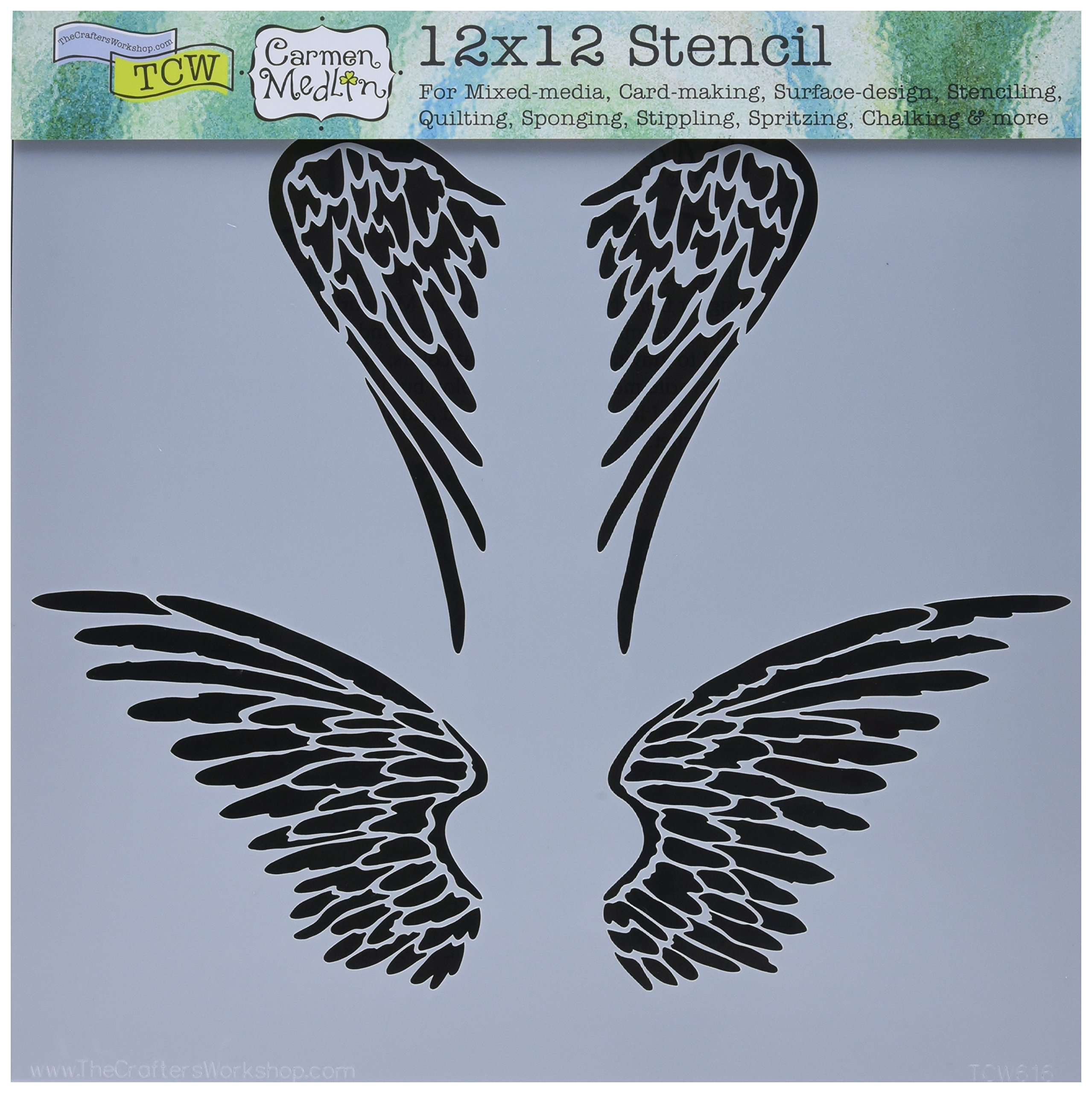 Crafters Workshop TCW-340 Template Stencil Sheets 12 by 12-Inch