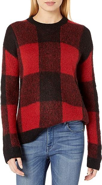Lucky Brand Womens Plaid Sweater