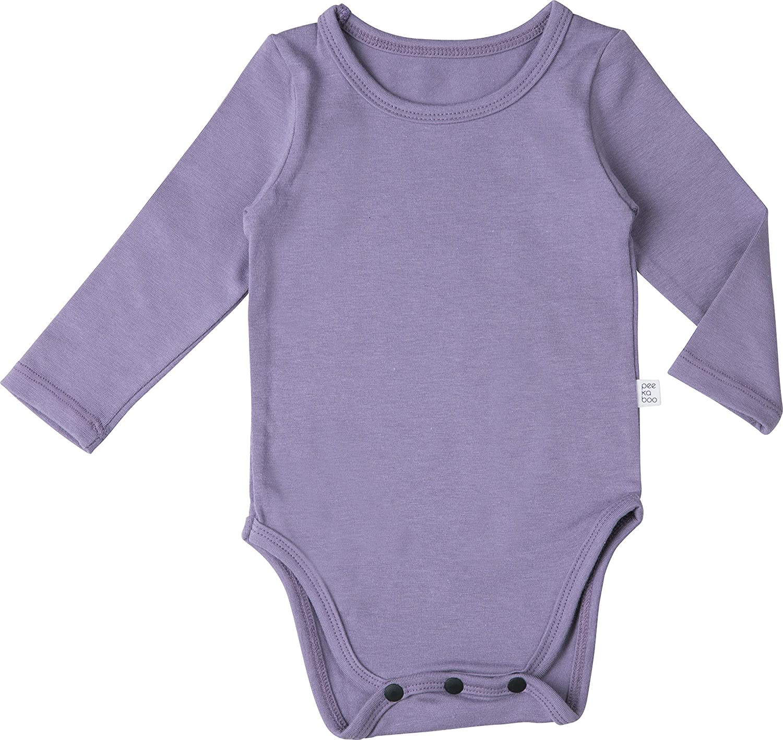 AVAUMA Baby Boys Girls Solid Modal Bodysuits Set Kids Pajamas Long Sleeve Cotton