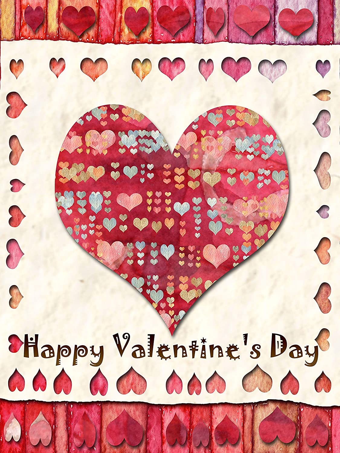 12 x 18 Inches Double Sided Artist Rendered /& Weather Resistant Love Heart Valentine Day Outdoor Yard Decor Small Joyousa Valentines Day Garden Flag
