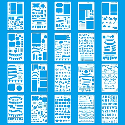 Amazon.com: MORSLER Bullet Journal Stencil Plastic Planner Stencils ...