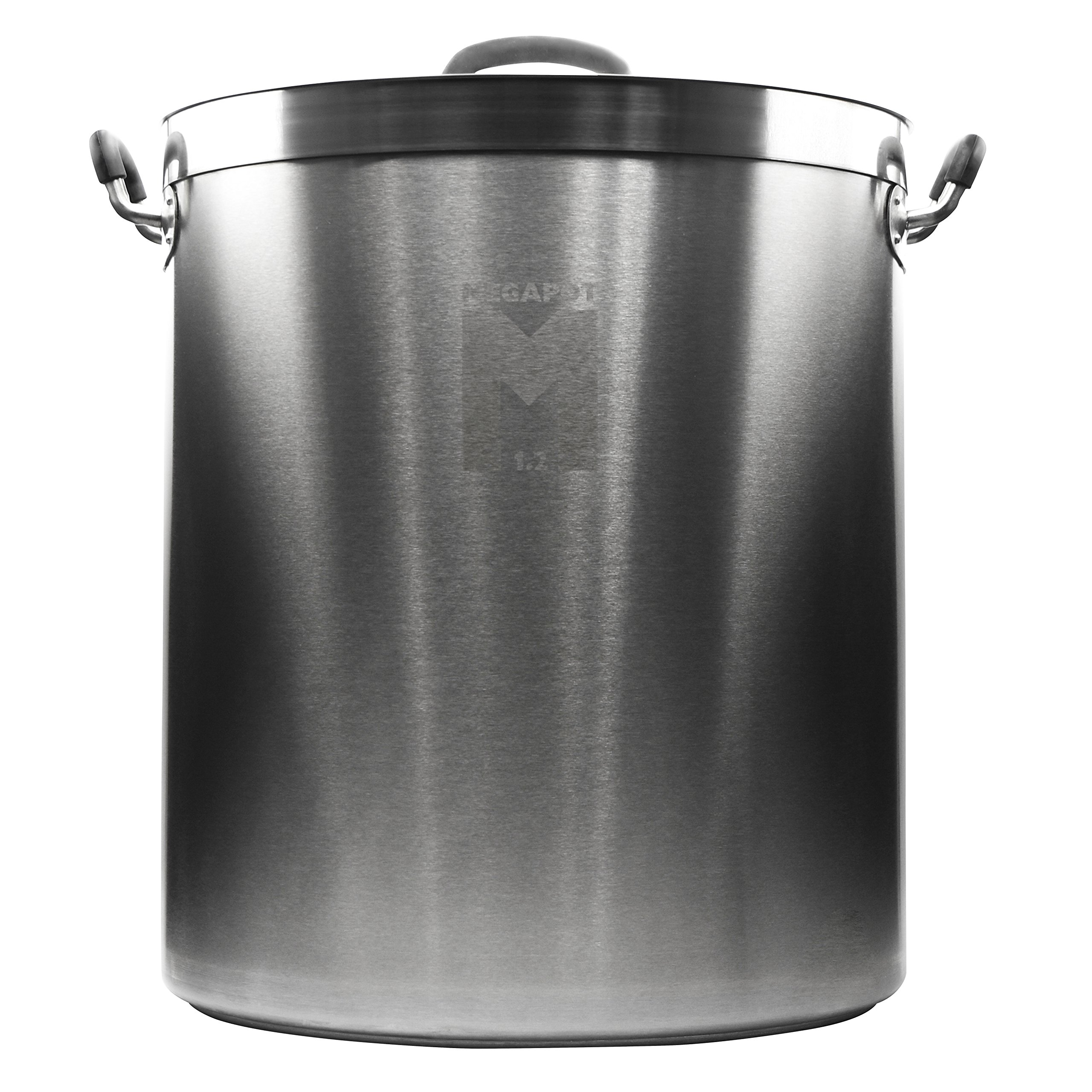Northern Brewer - Megapot 1.2 Homebrew Stainless Steel Undrilled Brew Kettle Stock Pot For Beer Brewing (Plain Kettle, 15 Gallon/60 Quarts)