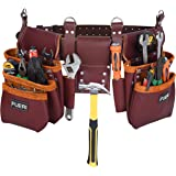 Tool Pouch Framers Combo Tool Bag Tool Kit | Heavy Duty Pro Gauge Leather, Rig Riveted Reinforcement Organizer Tool Holder |