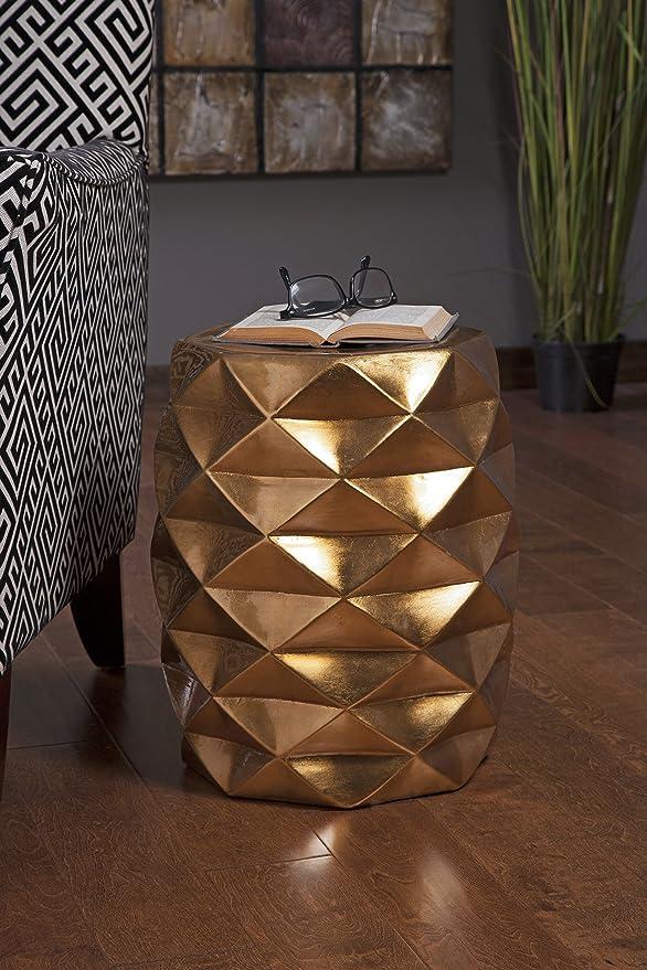 Sensational Imax 25194 Ik Geometric Garden Stool Creativecarmelina Interior Chair Design Creativecarmelinacom