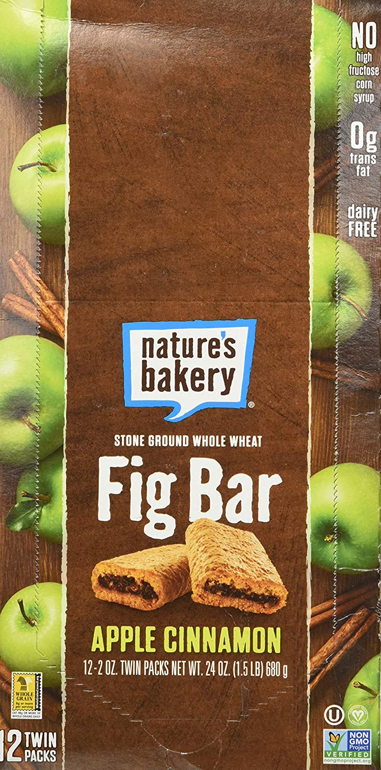 NATURES BAKERY BAR FIG WW APPLE CINNAMON, 2 OZ, PK- 12