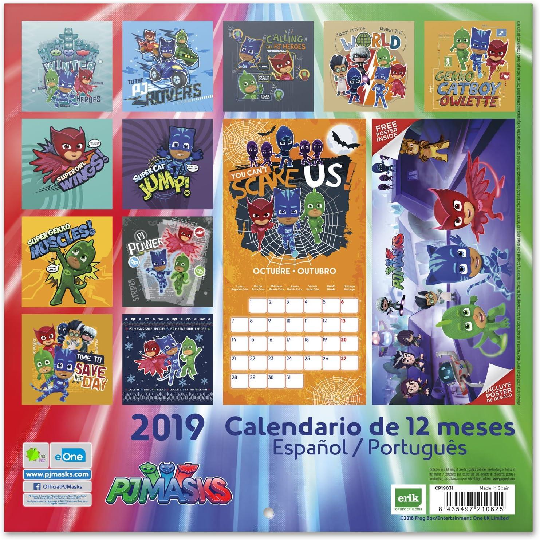 Grupo Erik Editores CP19031 - Calendario 2019 PJ Masks, 30 x 30 cm