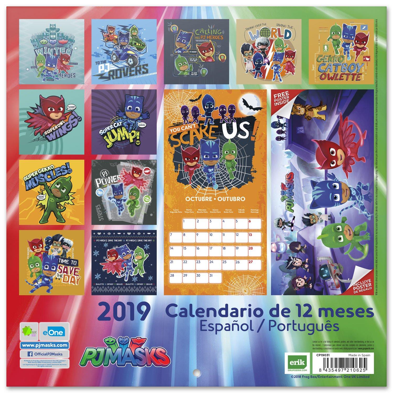 Grupo Erik Editores CP19031 - Calendario 2019 PJ Masks, 30 x 30 cm: Amazon.es: Oficina y papelería