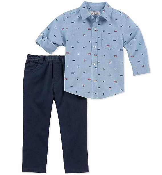 d9a1b395914b3 Conjunto de 2 Piezas de Camisa y Pantalones para niños de la Marca Kids  Seat